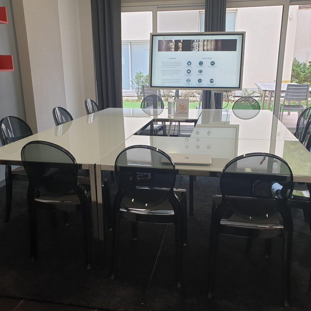 la salle de réunion de HD AVOCATS